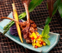 Coconut curry lamb chops from Fairmont Kea Lani's Ko Restaurant // © 2012  Fairmont Kea Lani