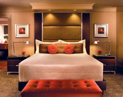 The revamped rooms and suites feature Treasure Island Elite Sensational Pillow Top beds. // (c) MGM Mirage