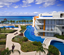 Secrets Aura Cozumel was previously two properties. // (c) AMResorts