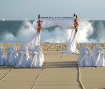 Sunset beach weddings are free at Pueblo Bonito. // © 2012 Pueblo Bonito Oceanfront Resorts and Spas