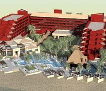 A rendering of Occidental Grand Nuevo Vallarta, slated to reopen in July 2011 // © 2010 Occidental Hotels & Resorts