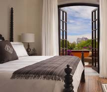 A guestroom at the newly opened Rosewood San Miguel de Allende © 2011 Rosewood Hotels & Resorts