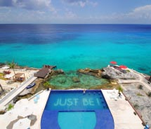 Hotel B Cozumel is positioned on the north leeward coast of the island. // © 2012 Hotel B Cozumel