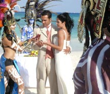 Real Resorts offers Maya ceremonies for weddings. // © 2012 Real Resorts