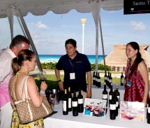 Festival-goers sampled wines from Northern California and other regions. // © 2012 Cancun-Riviera Maya Wine & Food Festival