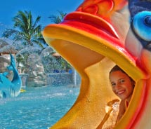 Sandos Caracol features a children's waterpark. // © 2012 Sandos Hotels & Resorts