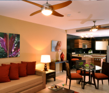 One-bedroom suites feature kitchenettes. // © 2012 Sunset plaza beach Resort & Spa