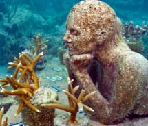 The Cancun area has unveiled a new underwater sculpture garden. // © 2010 Jason deCaires Taylor