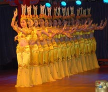 Victoria Cruises' Yangtze River cruises feature nightly entertainment, including traditional Chinese dance and musical performances. // © 2010...