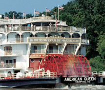 The American Queen will enter service in April. // © 2011 Great American Steamboat Company
