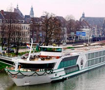 "<p align=""left"" class=""small_caption"">Tauck will be adding a new river cruise vessel in 2011, joining sister ship Swiss Sapphire, shown here. // ©..."