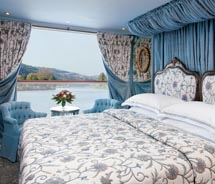 A stateroom on Uniworld's River Antoinette // © 2010 Uniworld Boutique River Cruise collection