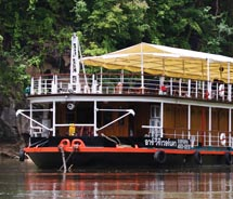 The River Kwai ship sleeps 20 guests comfortably. // © 2011 Dean Blaine