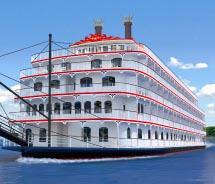 A rendering of the new Queen of the Mississippi // © 2012 American Cruise Lines
