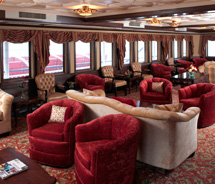 Queen of the Mississippi Paddlewheel Lounge // © 2012 American Cruise Lines