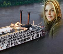 Priscilla Presley will serve as godmother of the American Queen // © 2012 Great American Steamboat Company