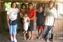 OCPATA member Jackie Williams visits the Amazon River // (c) 2008