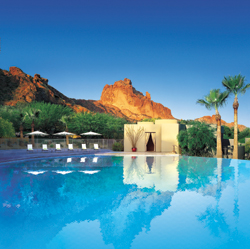 The view from the pool at Sanctuary Camelback Mountain Resort and Spa // (c) Marriott International