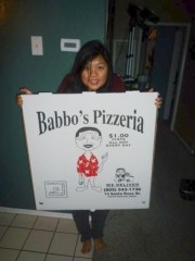 Giant pizza box at Babbo's // (c) 2010 Vy Vy Tran
