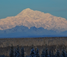 View of Denali taken from near the park entrance // (c) 2011 Christopher Batin