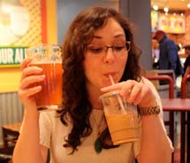 Choosing among Seattle's best brews can be hard, which is why some visitors, and even locals, enjoy iced soy lattes with their hoppy craft beers.  // © 2011 Mindy Poder