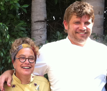 Renowned chefs Susan Feniger and Ben Ford at the launch event for DineLA's first summer program // © 2012 Mindy Poder