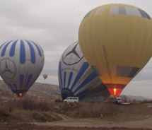 Hot-air ballooning in the rain // © 2010 Janeen Christoff