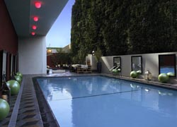 The hotel pool is an inviting and chic outdoor space. // © Hotel Palomar Los Angeles – Westwood // (c) 2010