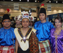 Performers at the Tourism Malaysia booth // (c) 2011 Janeen Christoff