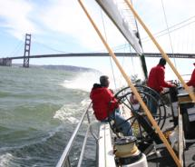 The two-hour program on USA 76 serves up sea spray and America's Cup history // (c) 2011 Monica Poling