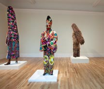 Nick Cave, Soundsuits, 2011. Installation view at the Newcomb Art Gallery, Tulane University. // © 2011 Michael Smith. Courtesy of Prospect.2 New...