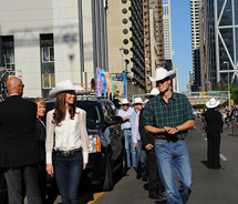 The Duke and Duchess arrive at the Calgary Stampede // © 2011 Government of Alberta