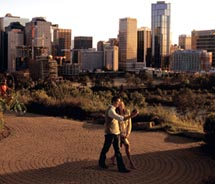Calgary's neighborhoods and parks can easily be explored on foot. // © 2011 Travel Alberta
