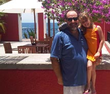 Ken Shapiro with his daughter at Club Med Ixtapa, Mexico // (c) 2010 Ken Shapiro