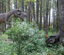 At Edmonton's Jurassic Forest, visitors get a taste of prehistoric times. // © 2011 forest: Brittney Le Blanc