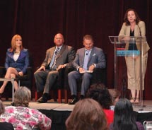 General session panelists provided agents with expert advice. // © 2012 Travel Weekly