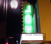 The newly renovated Joy Theater is once again a cultural hot spot. // © 2012 Michael Palumbo