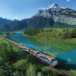 Traveling by train through the Canadian Rockies is a bucket-list experience. // © 2013  Rocky Mountaineer