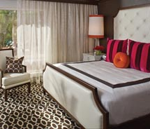 A guestroom at the Riviera Resort & Spa in Palm Springs, Calif. // (c) 2010 Riviera Resort & Spa