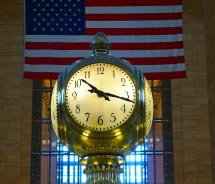 This clock is located in the main concourse of a famous New York City landmark. Where is it?