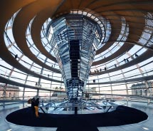 Tourists who register in advance can visit the dome of the building where Germany's parliament meets. What is this building called?  // © 2012 Teemu...