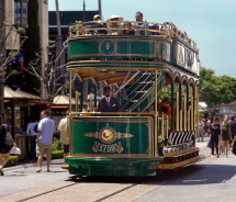 This trolley connects The Grove to which other shopping and dining destination? // © 2012 Alf Igel