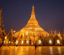This golden pagoda is a Yangon landmark. What is its name? // © 2013 Thinkstock