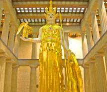 You could see this reproduction of Athena inside another reproduction. In which city are they? // © 2013 Ron Cogswell