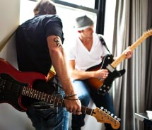 Guests receive complimentary guitar room service with a choice of 20 guitars.// © 2012 Hard Rock Hotels & Casinos