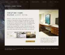 The new Hilton Design Studio allows agents to customize rooms. // © 2012 Hilton Hotels & Resorts
