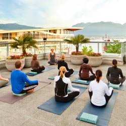 Fairmont Hotels & Resorts are breathing new life into on-the-go fitness, offering unique exercise classes at a number of properties. // © 2013...
