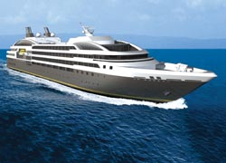 An artist's rendering of the Le Boreal // (c) 2010 Compagnie Du Ponant