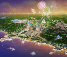 A rendering of the new Shanghai Disney Resort // © 2011