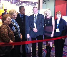 The ribbon-cutting at this year's THETRADESHOW // © 2011 Janeen Christoff